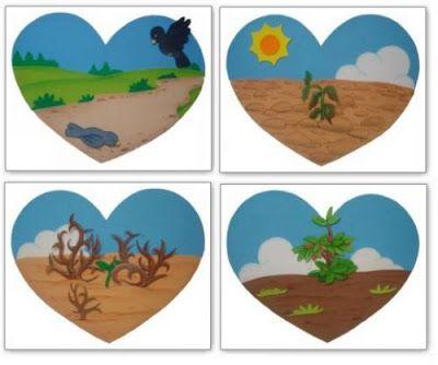 TEATRINHO DE SOMBRA: PARÁBOLA DO SEMEADOR   Parábola do semeador para  crianças, Parabola do semeador, Artesanatos bíblicos