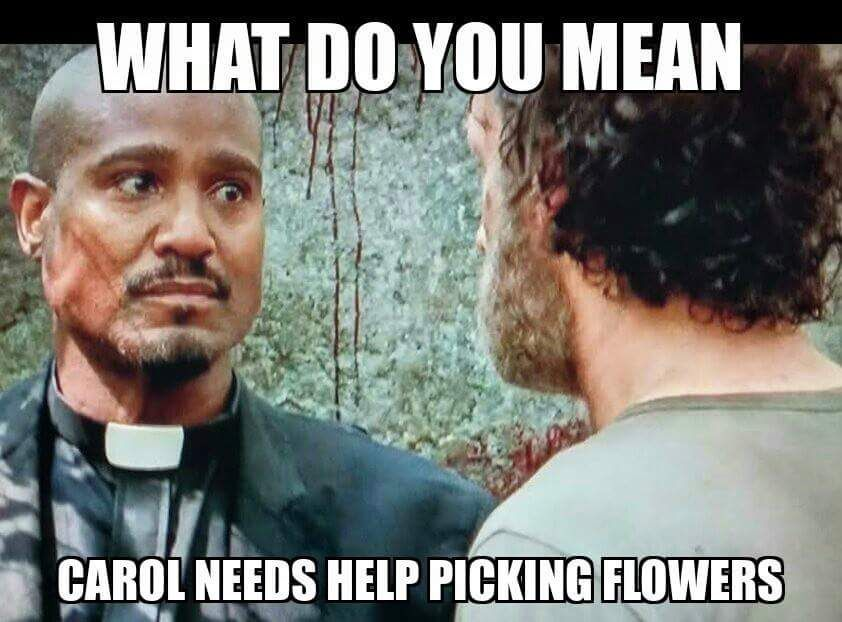 Father Gabriel, you are a verrry bad man. The Walking Dead season 5.