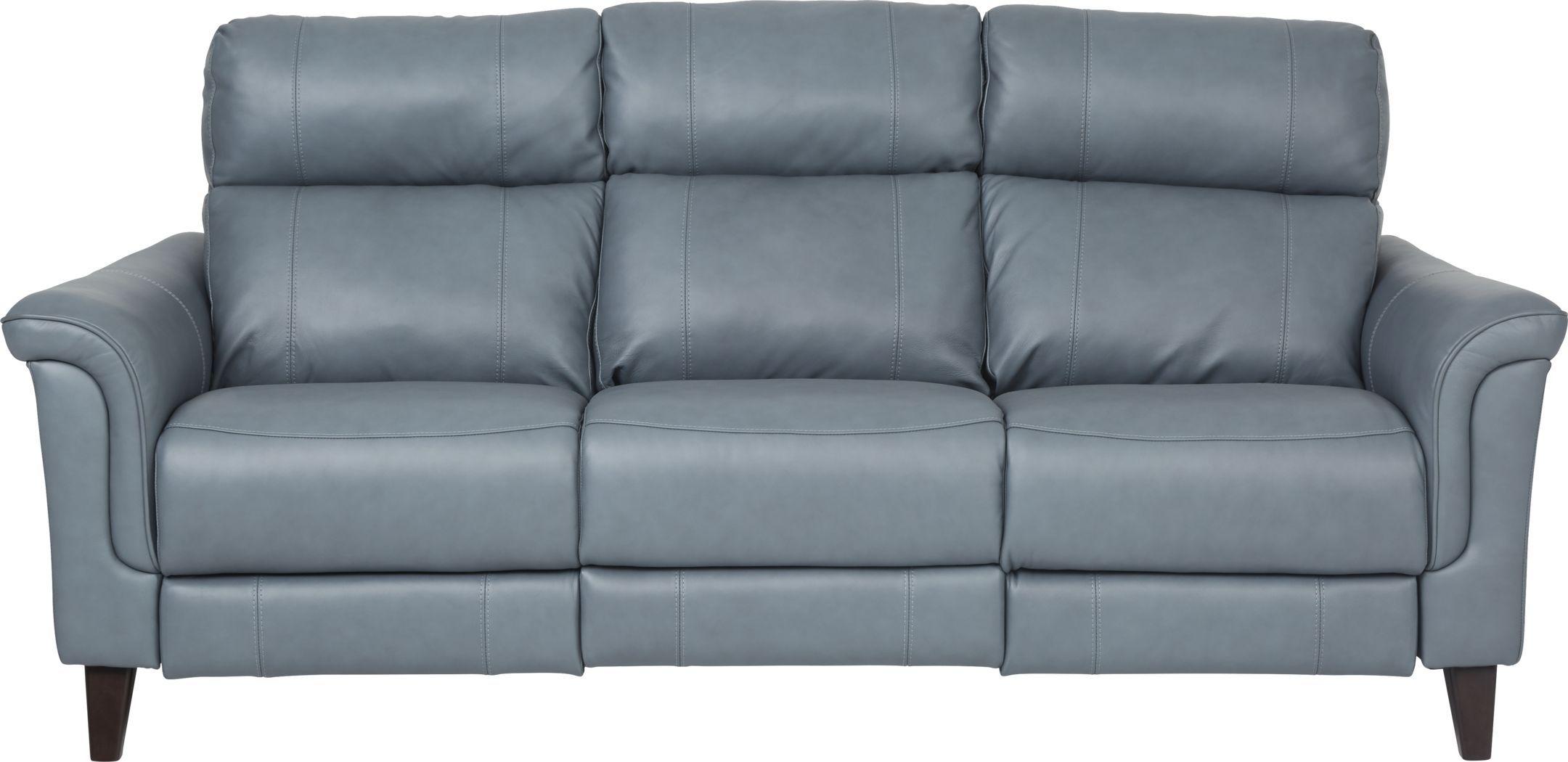 Best Cindy Crawford Home Avezzano Blue Dual Power Reclining 640 x 480