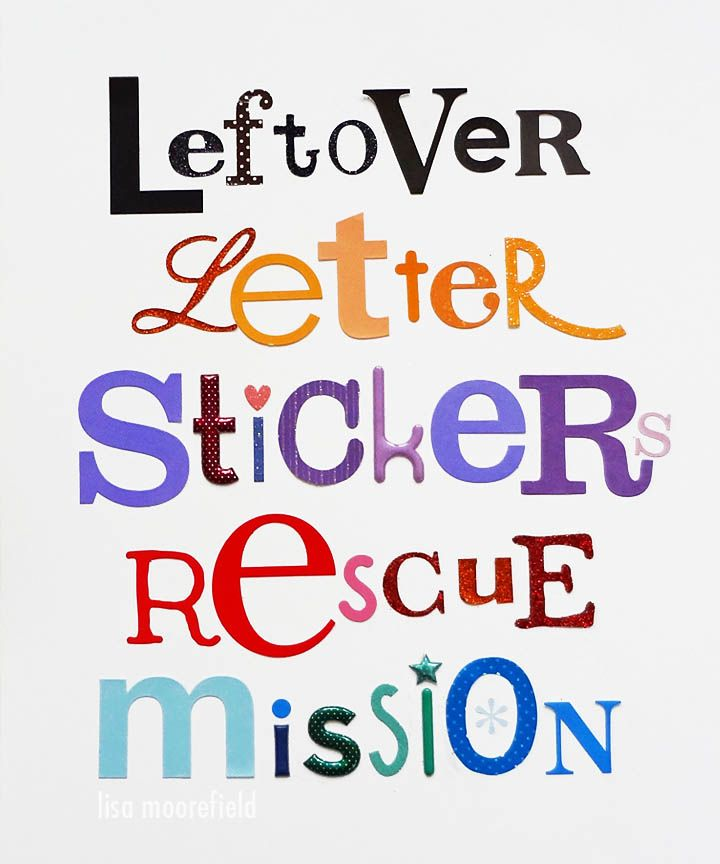ideas for using leftover letter stickers | Scrapbook Ideas | Diy