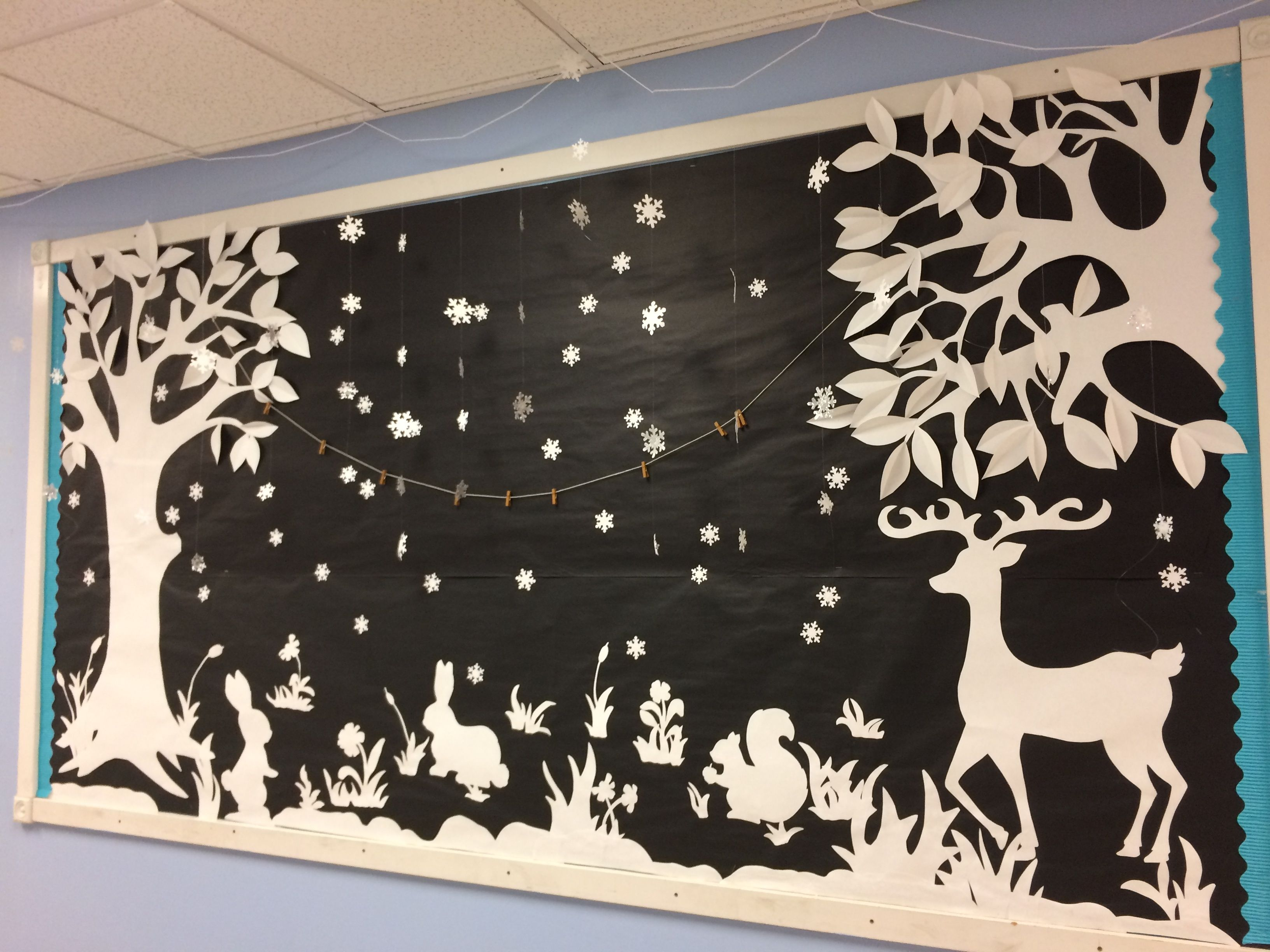 Winter Bulletin Board Decoration Art Class Teacher