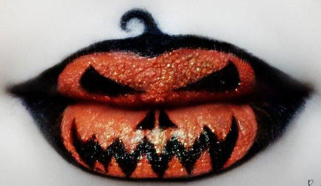 Cool Lip Makeup Easy And Unique Halloween Lip Makeup Ideas Creepy Halloween Makeup Lip Art Halloween Makeup