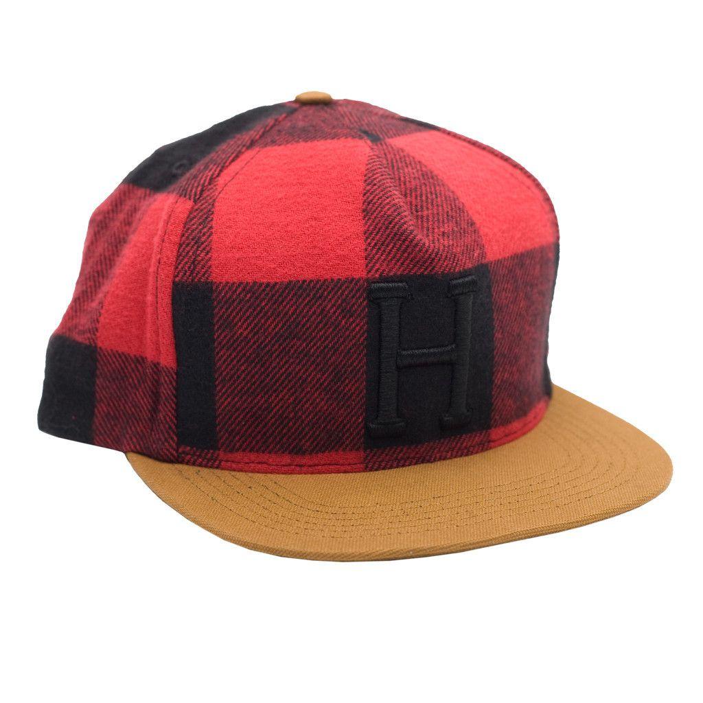 1138295b0aea5 Classic H Buffalo Check Snapback Red