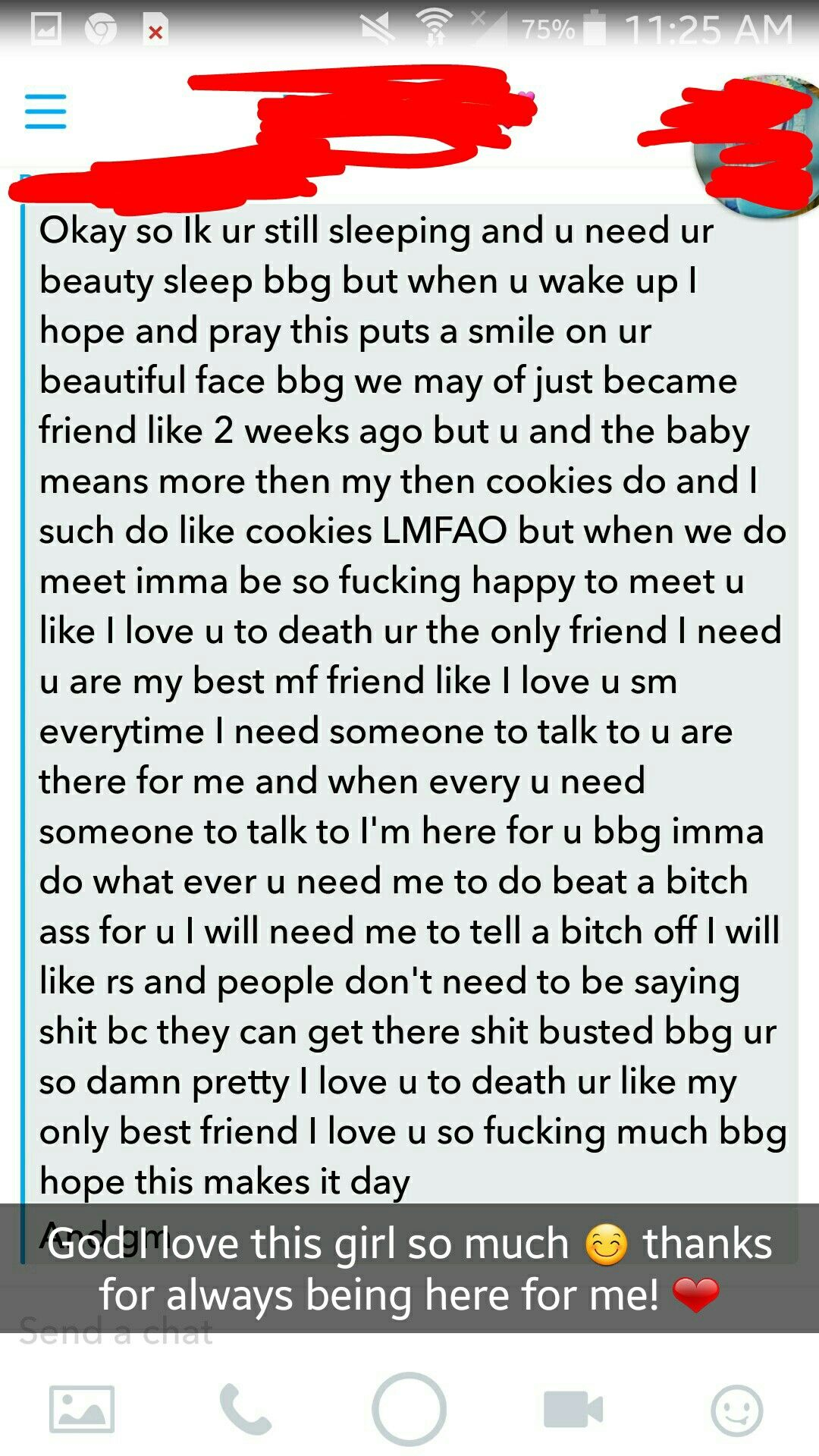Love To Wake Up To A Long Ass Message Like This From My Best Friend