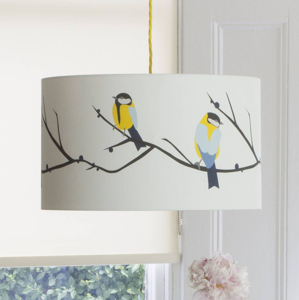 Are You Interested In Our Bright Blue Yellow Bird Lampshade With Fresh And Need Look No Further