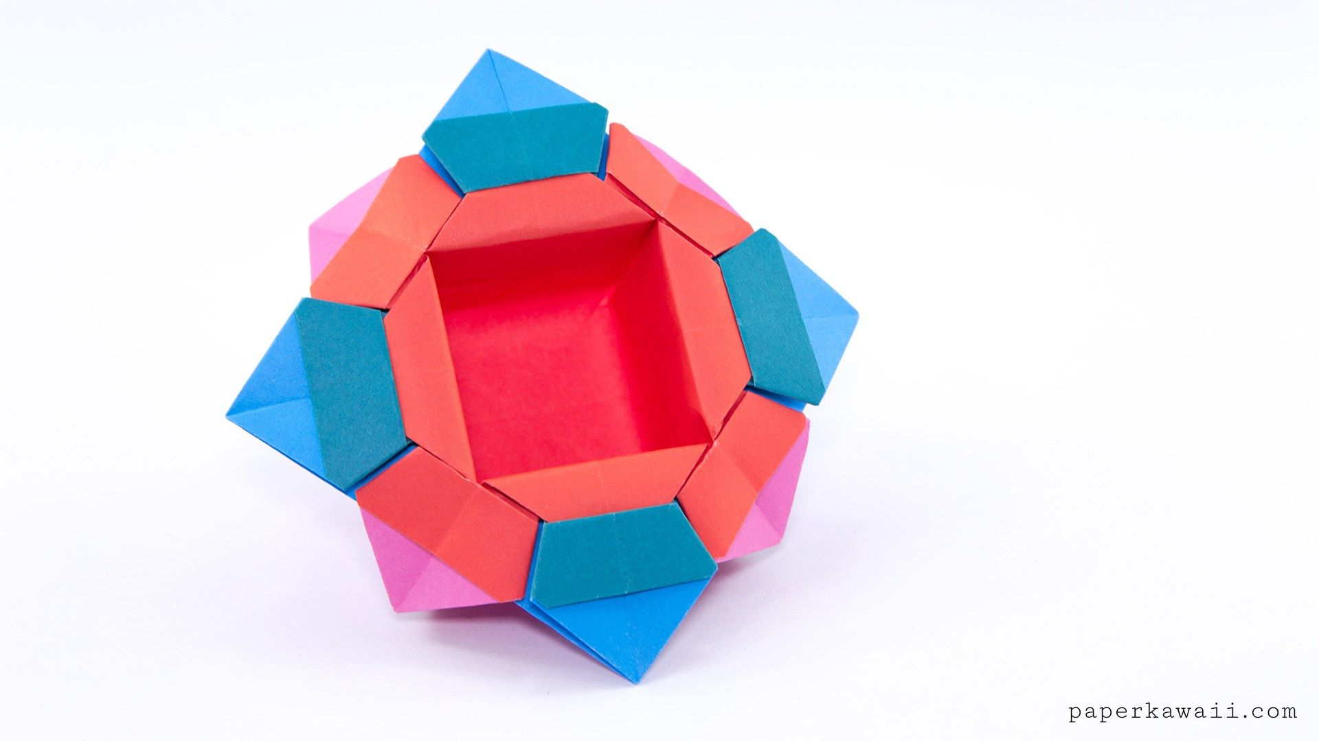 Traditional Origami Chinese Fancy Dish Tutorial Paper Kawaii Origami Box Origami Fancy Dishes