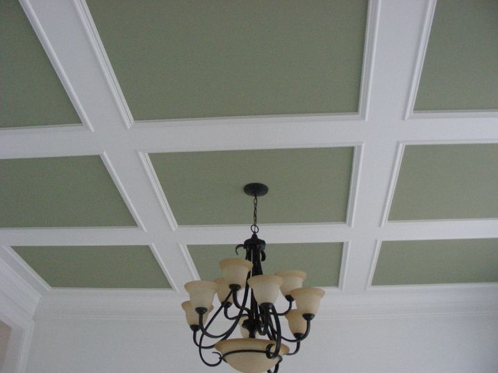 Flat Panel Coffered3 Jpg 717 537 Coffered Ceiling Ceiling Trim Kitchen Ceiling