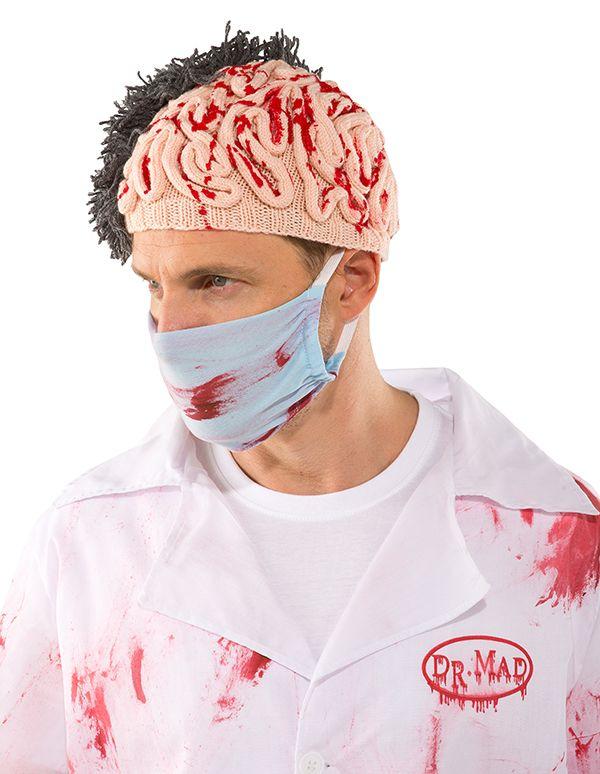 Halloween DIY Strickanleitung - Hirnmütze für Dr. MAD selbst ...