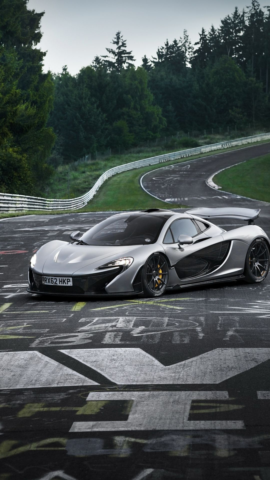 Sports Car On Road Mclaren P1 Wallpaper Mclaren P1 Sports Car