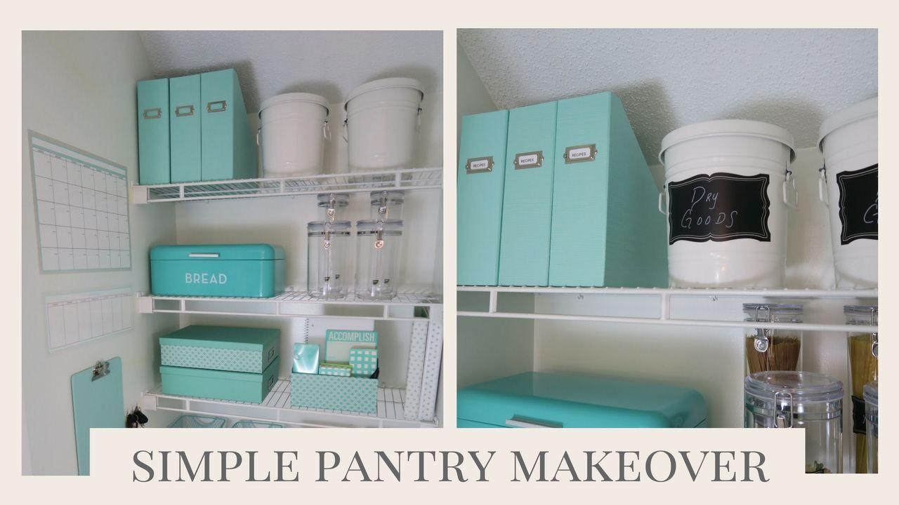 HOME ORGANIZATION | Simple Pantry Organization Ideas | Organization ...
