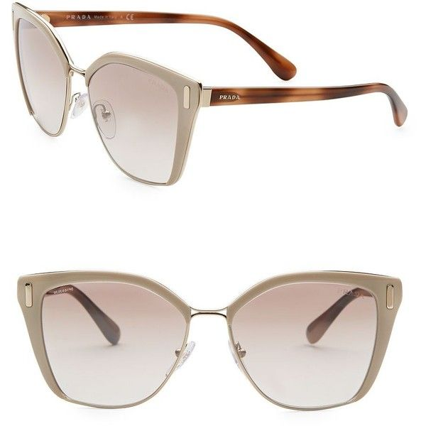 1c63efc3d272c ... italy prada 57mm mirrored square sunglasses 1.270 brl liked on polyvore  featuring accessories f4af3 a9a4c
