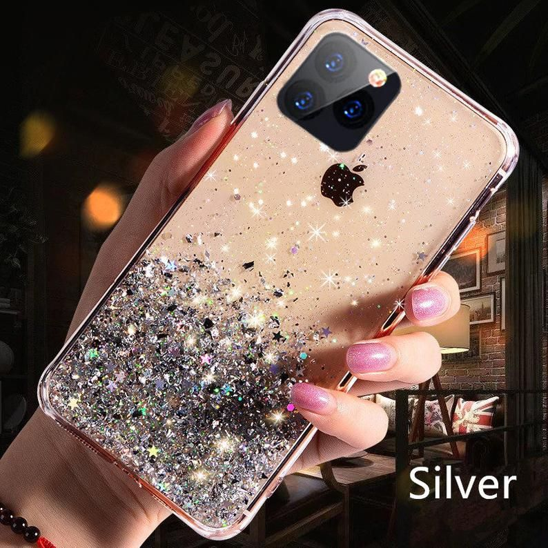 Bling Glitter Phone Case For Iphone 11 12 Pro Max Xr Xs Max X Etsy Glitter Phone Cases Glitter Iphone Case Iphone