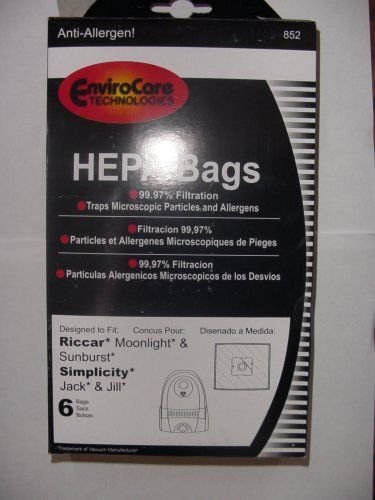 Type Z Replacement Vacuum Bags for Riccar 852 RZP-6 3Pk
