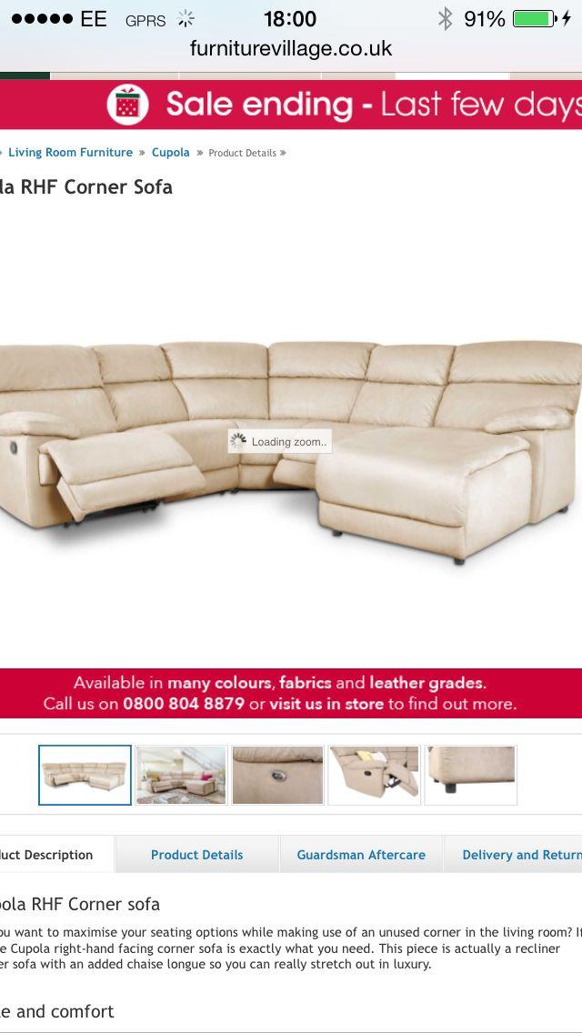 Furniture Village Aftercare furniture village - cupola corner sofa rhf £1395 | the big build