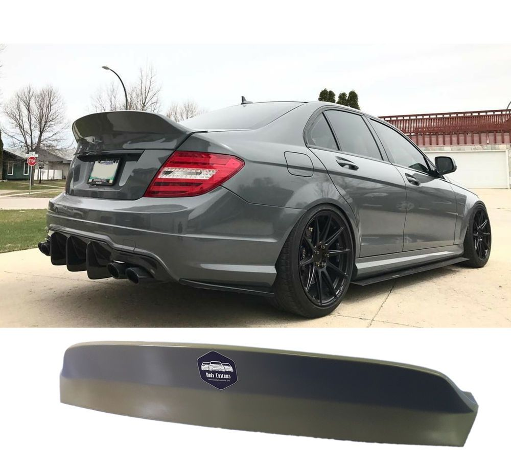 Rear spoiler ducktail Mercedes w204 C63AMG | Want | Mercedes c180