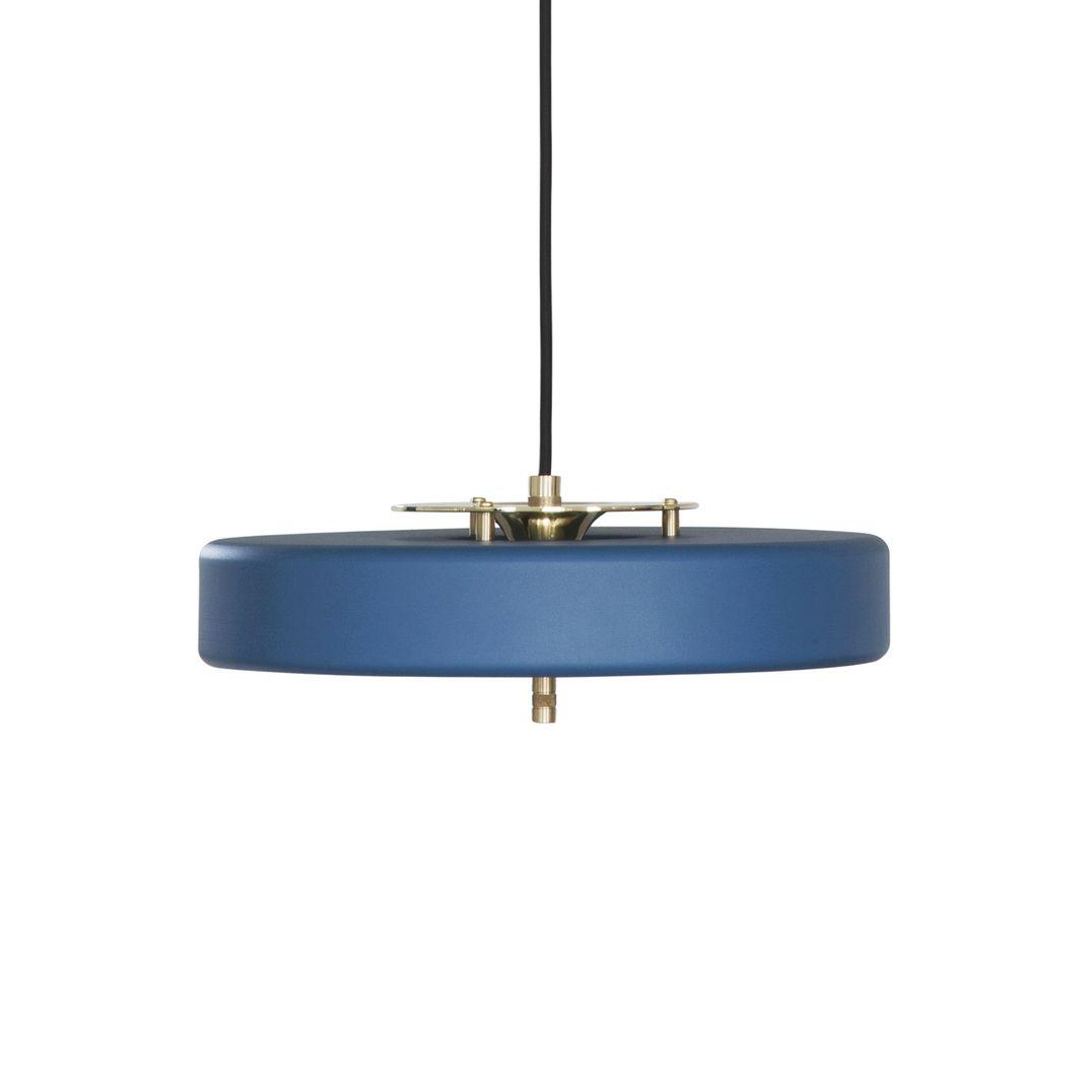 Revolve pendant brass u matte blue glass diffuser pendant lamps