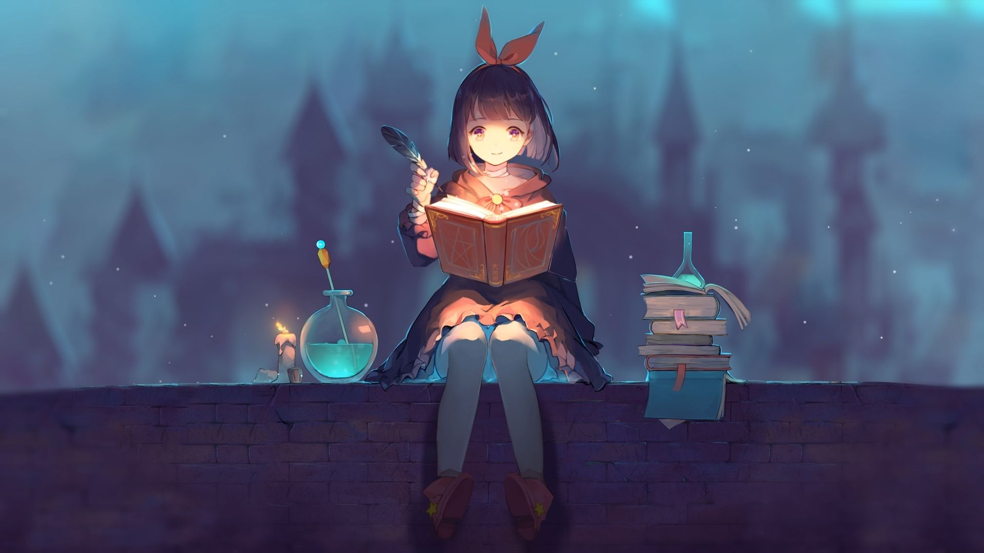Studying Witch 魔女 [Wallpaper Engine Anime] in 2020 Anime