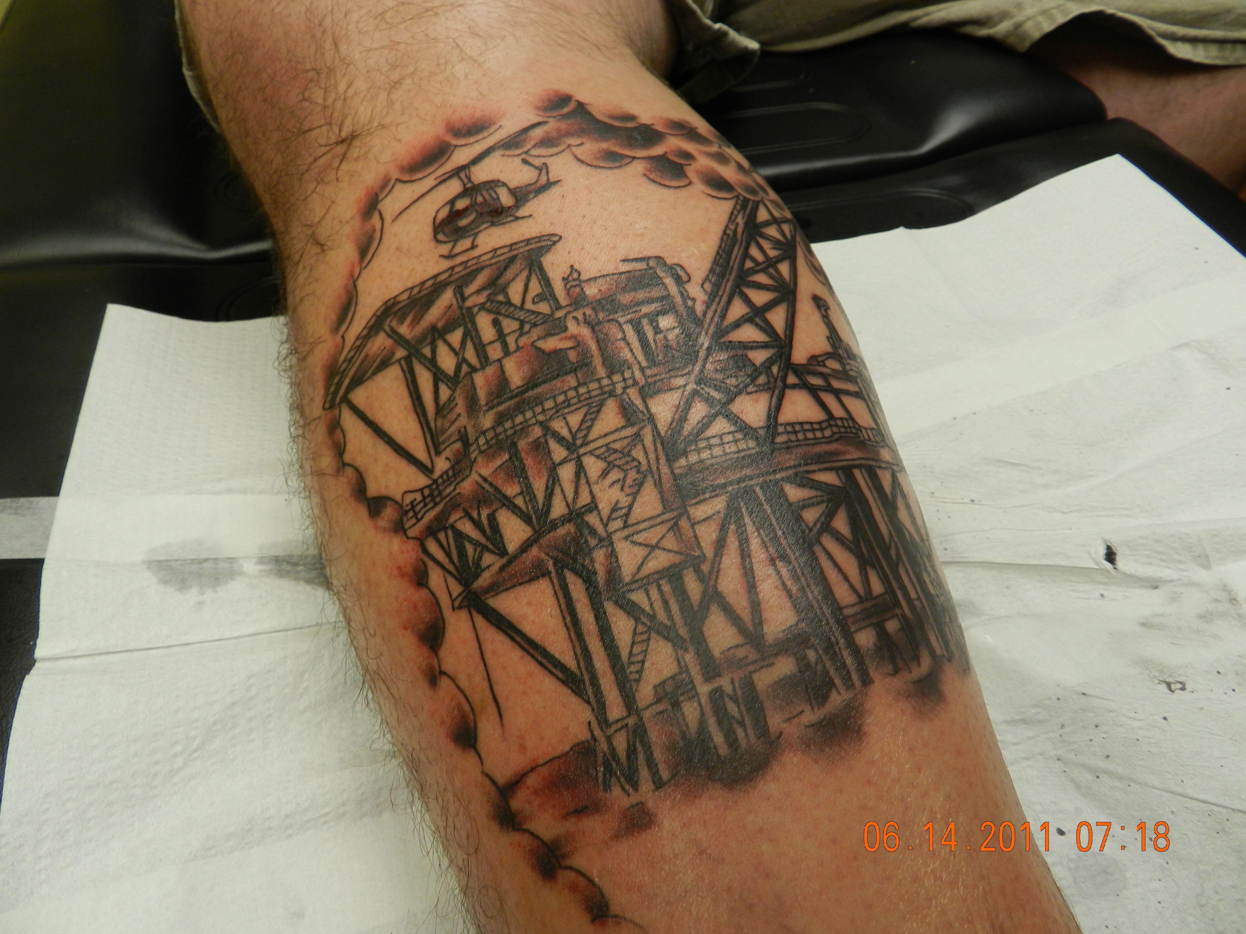 oil rig husbands career me pinterest rigs tatting and tattoo. Black Bedroom Furniture Sets. Home Design Ideas