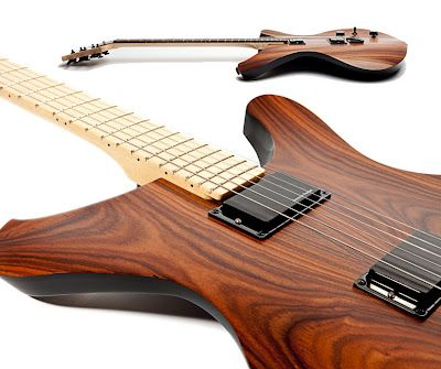 Sinuous Guitars and Amps. Fine Woods and Unique Design Make Beautiful Music Together.