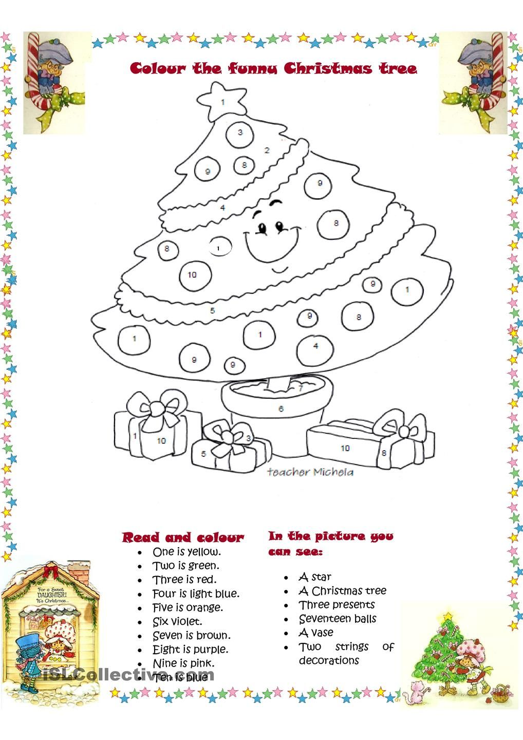 Colour the funny christmas tree english pinterest funny colour the funny christmas tree worksheet free esl printable worksheets made by teachers ibookread Read Online