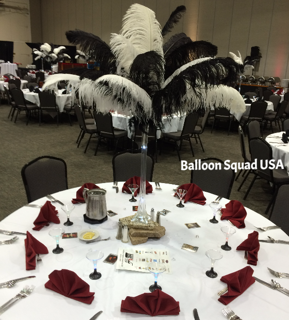 James bond theme centerpieces for company party company for Decor 007