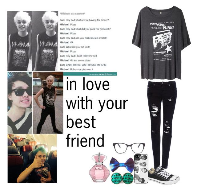 """""""in love with your best friend REQUEST"""" by lucyxpayne ❤ liked on Polyvore featuring R13, Pull&Bear, Converse, Samsung and Prism"""
