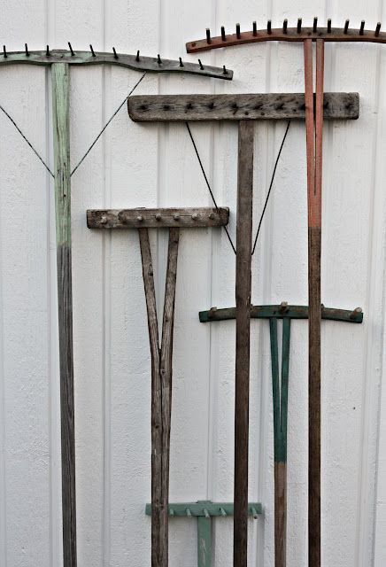 Fleaingfrance Old Garden Tools Garden Tools Outside Wall Art