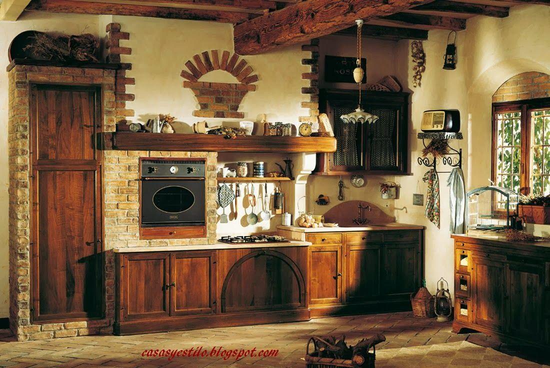 Casas De Campo Interiores Casas Y Estilo Decoracion De Cocinas Rusticas Decoracion De Interiores Rustico Cocinas De Estilo Rustico