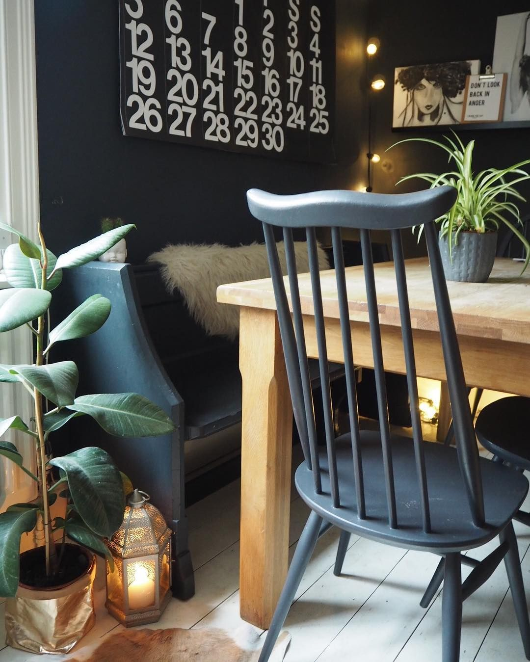 """Kerry Lockwood  In Detail On Instagram """"I Love This Church Pew Cool Second Hand Ercol Dining Room Furniture Design Ideas"""