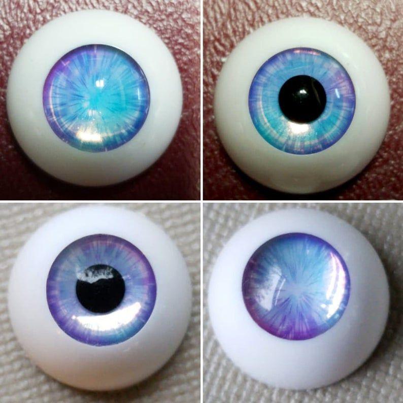 16mm acrylic eyes For BJD DOD AOD MK OK RD Doll Dollfie  Laser gradient H2