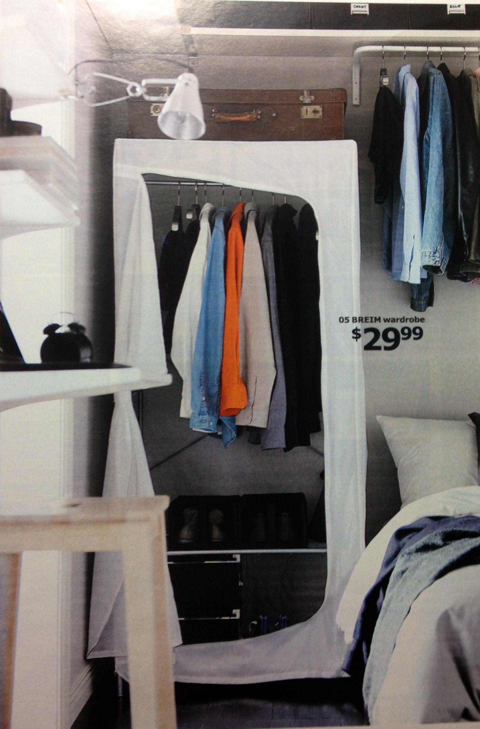 Breim Wardrobe Without Cover First Apartment Slaapkamer