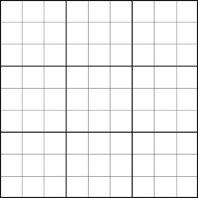 sudoku grid template