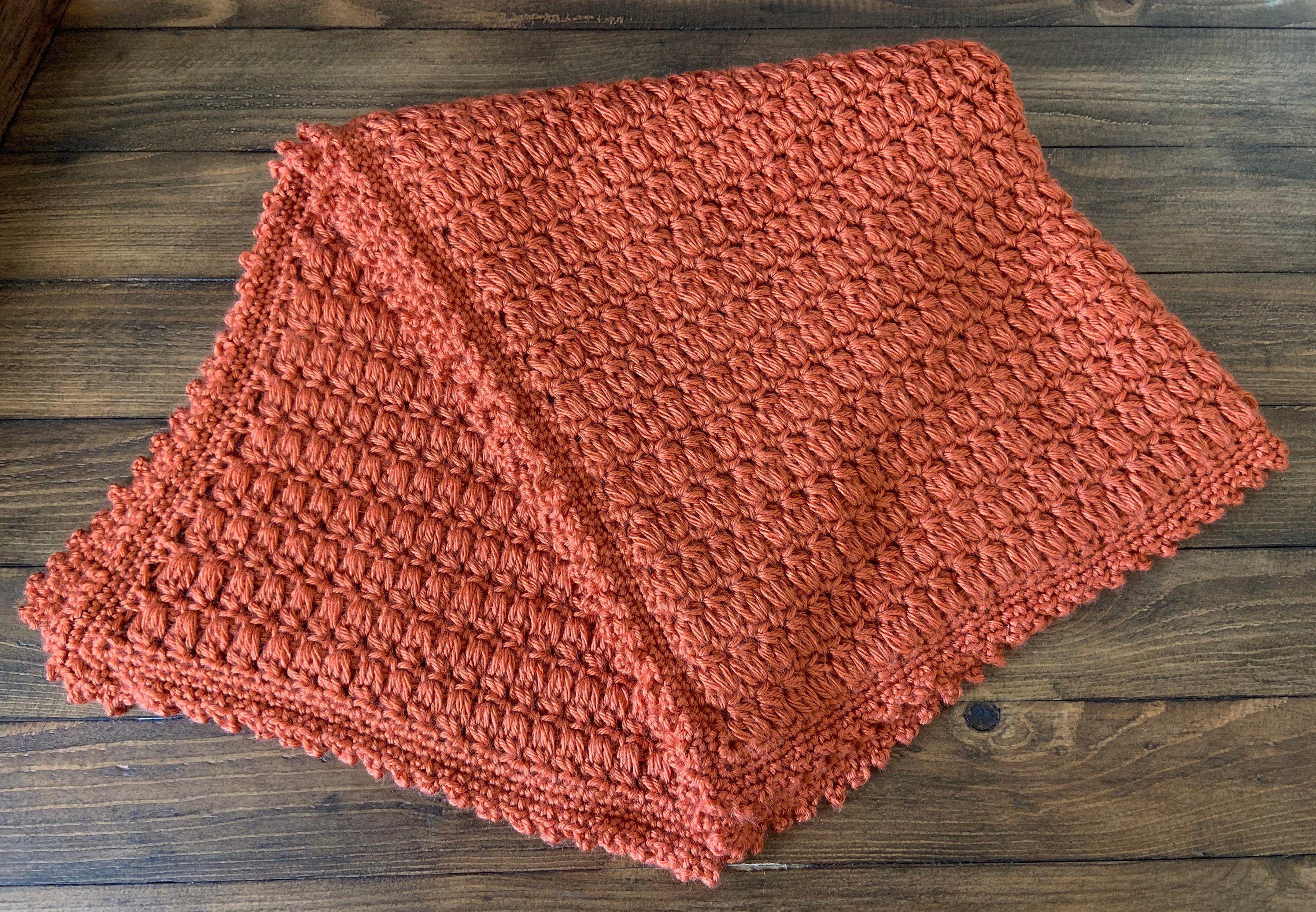 Harvest Orange Pumpkin Baby Crochet Security Blanket Afghan Lovie #crochetsecurityblanket