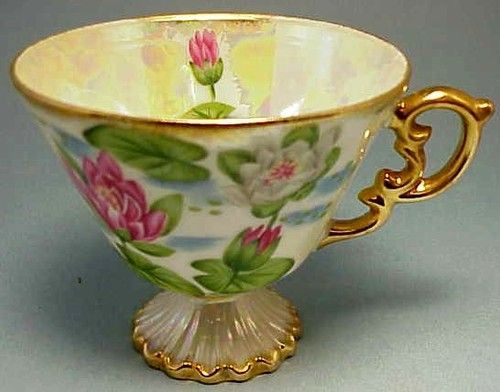 Water Lily Tea Cup Bone China
