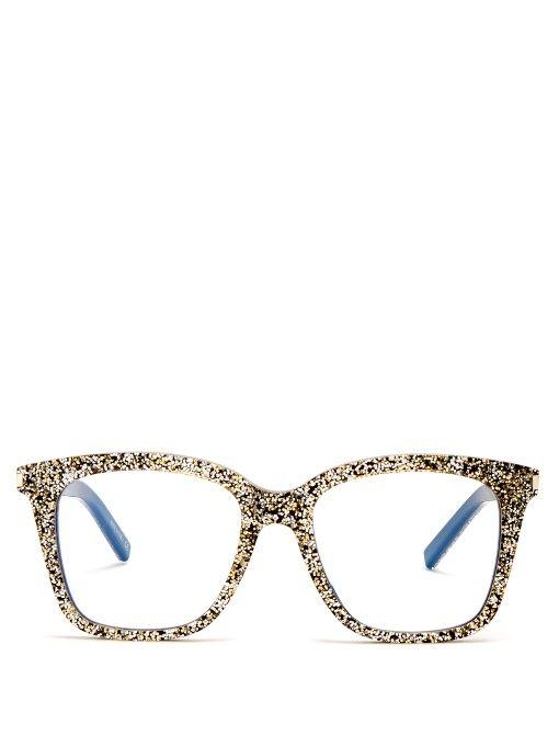 bce01d46ba Saint Laurent D-frame glitter-acetate glasses