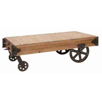 Cruz Coffee Table Cart Coffee Table Wood Cart Iron
