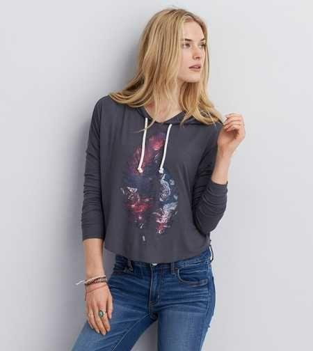 AEO Soft & Sexy Graphic Hoodie T-Shirt