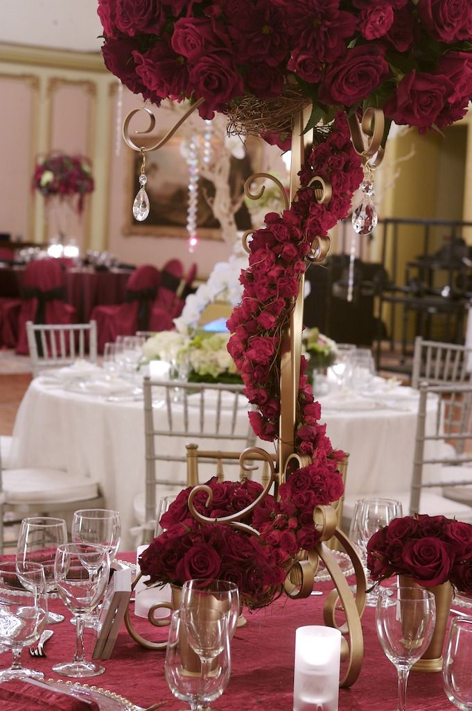 Tall Centerpieces My Wedding Blooms Red Rose Centerpiece