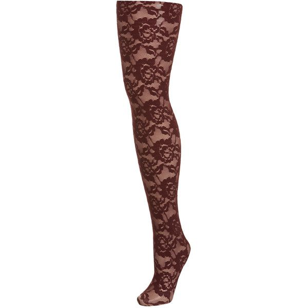 19a2fc9e8d0 Miss Selfridge Burgundy lace Tight ( 5) ❤ liked on Polyvore featuring  intimates