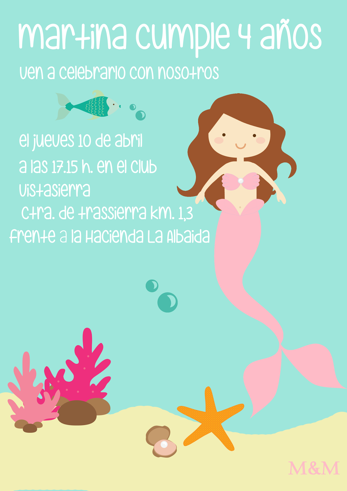 Mmparty Cumpleaños De Sirenas Para Martina Cumpleaños De