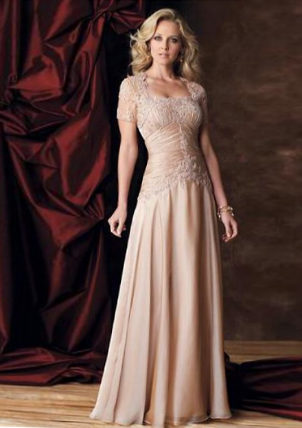 fb5942c42ea Simple Color Wedding Dress for Older Brides Over 40