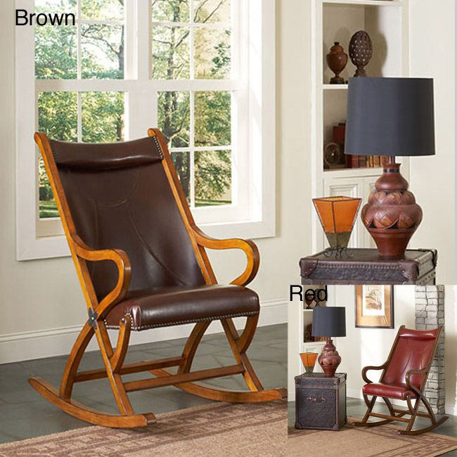 Leather rocking chair.   Rocking chair, Chair, Living room ...