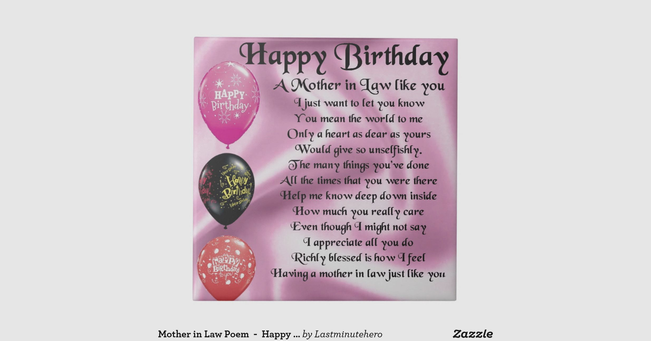Gift birthday mom in law in 2020 happy birthday design