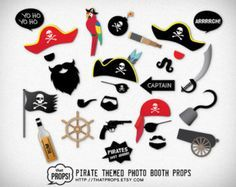Instant Download: Pirate Party Photo Booth Props by OneStopDigital