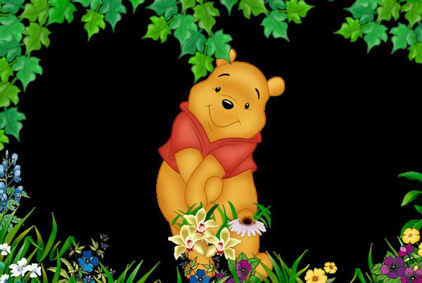 Transparent Kids Png Frame With Kanga Winnie The Pooh: Kids Winnie The Pooh Cute Transparent Photo Frame