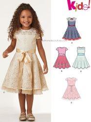 a2cb8e0347b8a Patron de robe de fête pour fillette 3 à 8 ans