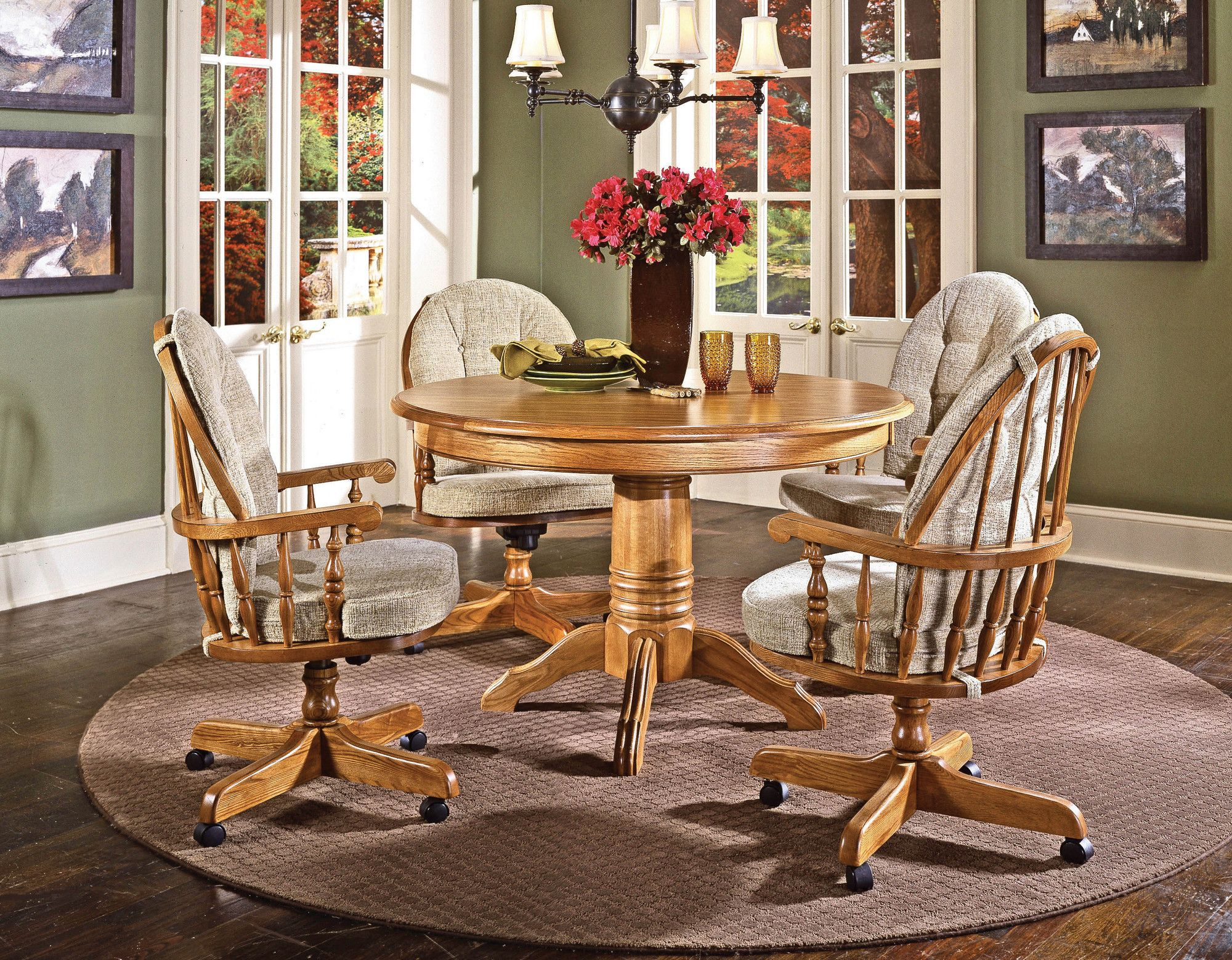 Cochrane Furniture Cushions For Thresher S Too Bow Back Caster Chair I Have This Set And Am Looking For R Dinette Furniture Dinette Chairs Dining Room Chairs