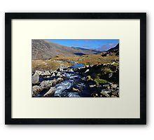 A Mountain Stream in Snowdonia Framed Print