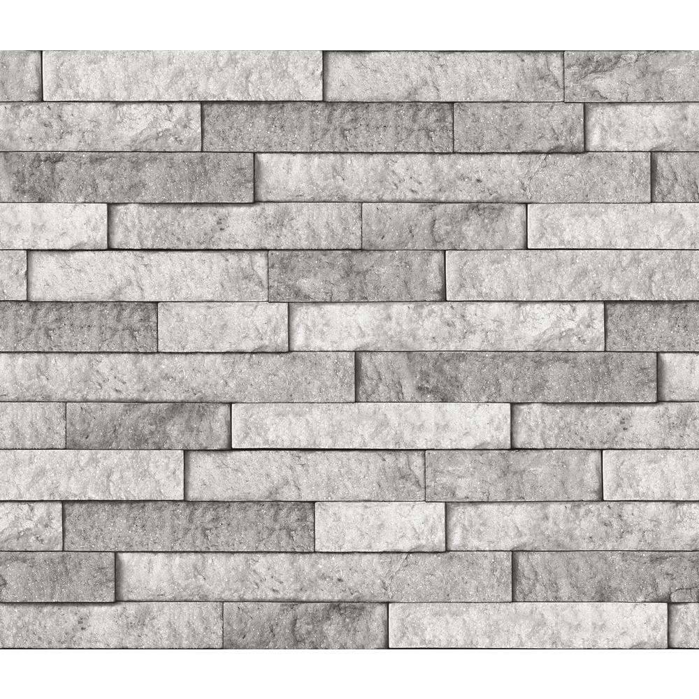 Brewster Grey Stone Wall Applique Peel And Stick Backsplash Bhf3049 The Home Depot Peel Stick Backsplash Stacked Stone Backsplash Grey Stone Wall
