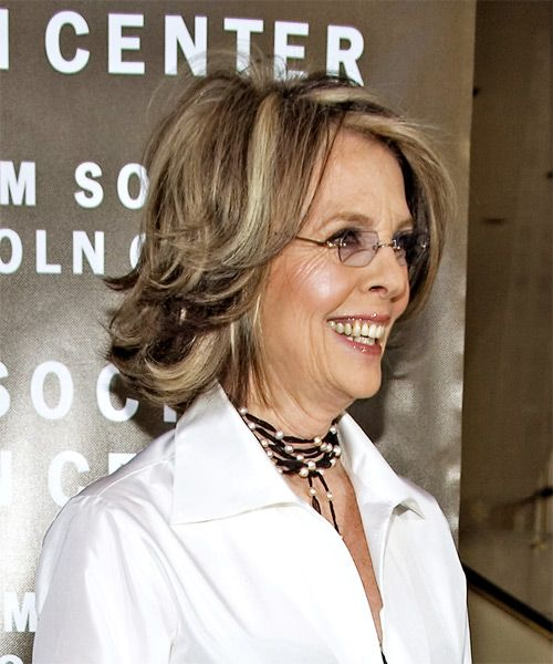 Diane Keaton Medium Straight Hairstyle Womens Hairstyles Hair Styles Straight Hairstyles Medium